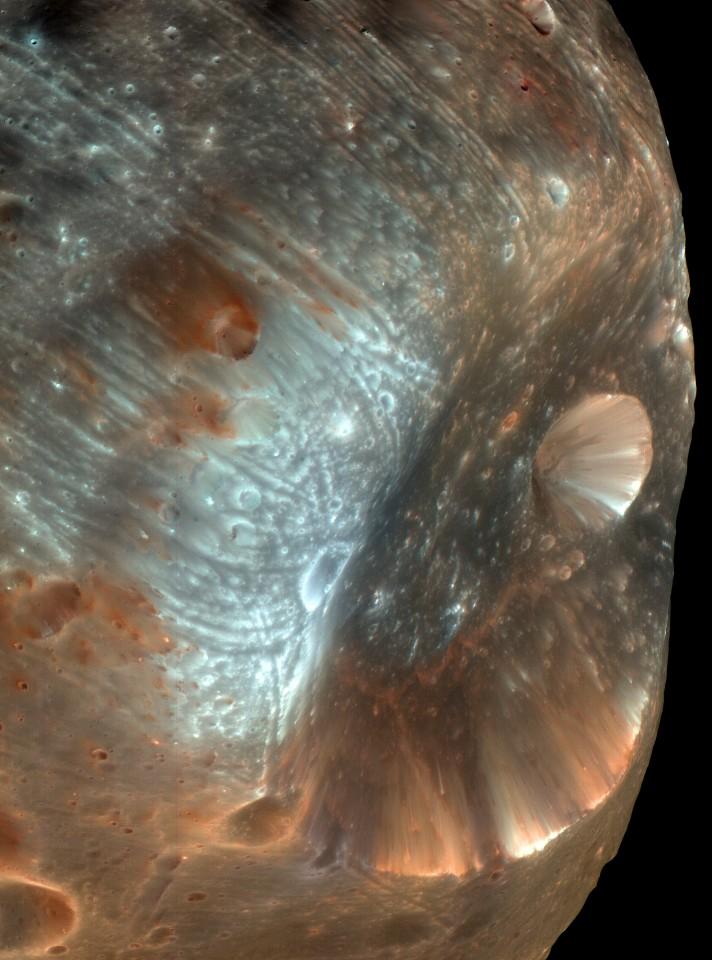 фобос - к нему приблизился Марс-Экспресс