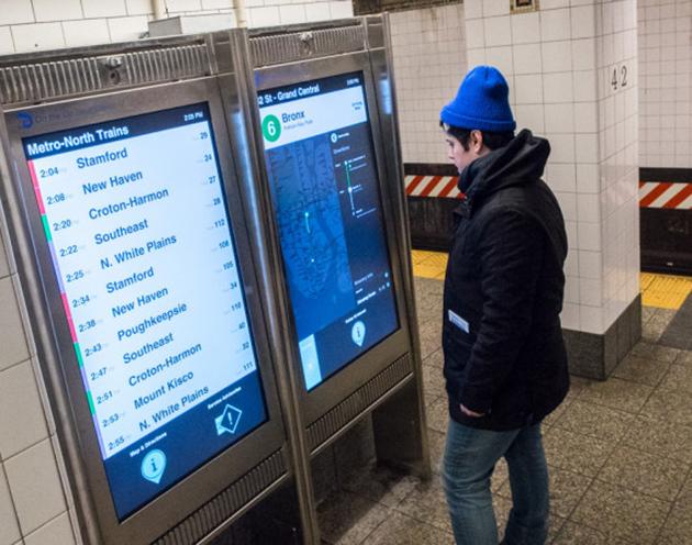 First Touchscreen Subway Map kiosks