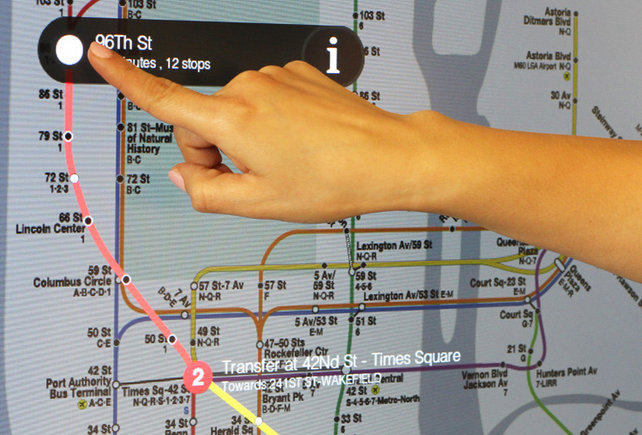 Subway touch screen